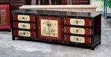 Product ID : 6569 - Category : TV Cabinet - Product Name : Vintage Style Chinese Lacquer Painted TV Cabinet