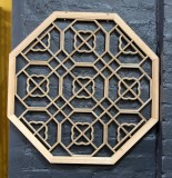 Product ID : 6108 - Category : Wall Decor - Product Name : Octagon Shape Chinese Begonia Pattern Lattice Wall Panel