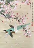 Product ID : 6362 - Category : Painting - Product Name : Vintage Chinese Original Water Ink Hand Painting Scroll The Flower and Bird