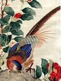 Product ID : 6299 - Category : Painting - Product Name : Vintage Chinese Original Water Ink Hand Painting Scroll The Flower and Bird