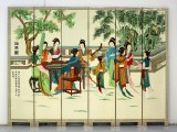 Product ID : 6228 - Category : Screen - Product Name : Chinese Lady Hand Painted Room Divider Screen