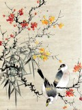 Product ID : 6296 - Category : Painting - Product Name : Vintage Chinese Original Water Ink Hand Painting Scroll The Flower and Bird