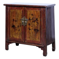 Product ID : 7080 - Category : Sideboard - Product Name : Antique Chinese Lacquer Painted Side Cabinet