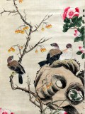 Product ID : 6300 - Category : Painting - Product Name : Vintage Chinese Original Water Ink Hand Painting Scroll The Flower and Bird