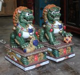 Product ID : 6272 - Category : Other Decor - Product Name : Pair of Chinese Guardian Lions Foo Dog Shiwan Ceramic Figure