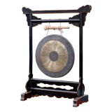 Product ID : 6823 - Category : Other Decor - Product Name : Chinese Style Gong on Black Lacquer Wooden Stand
