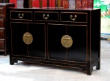 Product ID : 6751 - Category : Sideboard - Product Name : Black Lacquer Sideboard with 3 Drawer 2 Door