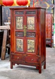 Product ID : 6640 - Category : Wardrobe - Product Name : Vintage Chinese Style Mini Wardrobe