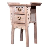 Product ID : 6958 - Category : Small Cabinet - Product Name : Chinese Altar Style Wooden Side Table with 2 Drawers