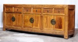 Product ID : 7054 - Category : Long Sideboard - Product Name : Vintage Elm Wood Long Buffet Sideboard with 6 Drawers and 6 Doors