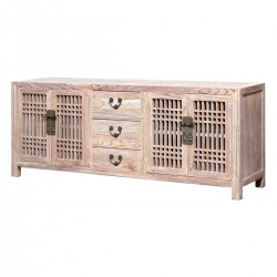 Product ID : 7062 - Category : TV Cabinet - Product Name : Wooden TV Cabinet with 3 Drawers and 2