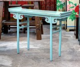 Product ID : 6470 - Category : Console Table - Product Name : Chinese Style Blue Lacquer Hallway Altar Console Table