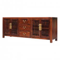 Product ID : 6956 - Category : TV Cabinet - Product Name : Dark Brown Wooden TV Cabinet