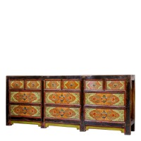 Product ID : 6912 - Category : Long Sideboard - Product Name : Tibetan Lacquer Painted Sideboard 12 Drawer
