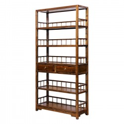 Product ID : 7036 - Category : Shelf - Product Name : Dark Brown Wooden Bookshelf with 2 Drawers