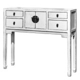 Product ID : 6848 - Category : Console Table - Product Name : White Chinese Style Hallway Console Table 4 Drawer 2 Door