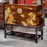 Product ID : 6682 - Category : Side Cabinet - Product Name : Wooden Chinese Style Chest with Painting and Stand