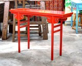 Product ID : 6605 - Category : Console Table - Product Name : Red Lacquer Hallway Console Table