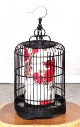Product ID : 6924 - Category : Lighting - Product Name : Bamboo Birdcage Table Lamp Black