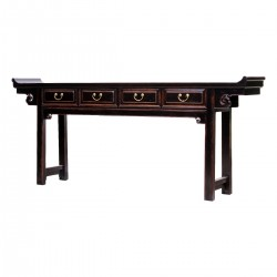 Product ID : 7000 - Category : Console Table - Product Name : Vintage Chinese Altar Style Long Console Table with 4 Drawers