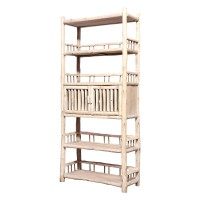 Product ID : 6960 - Category : Shelf - Product Name : Original Ecology Natural Style Bookshelf with 2 Doors