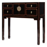 Product ID : 6971 - Category : Console Table - Product Name : Chinese Style Black Lacquer Painted Small Console Table