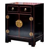 Product ID : 6054 - Category : Small Cabinet - Product Name : Chinese Style Black Lacquer Bedside Cabinet